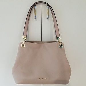 💕NWT Michael Kors Raven Lg. Tote,Oyster Leather